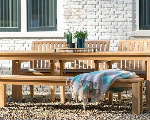 Tuinset James 240 cm  met Comfort tuinstoelen en James tuinbank 190 cm