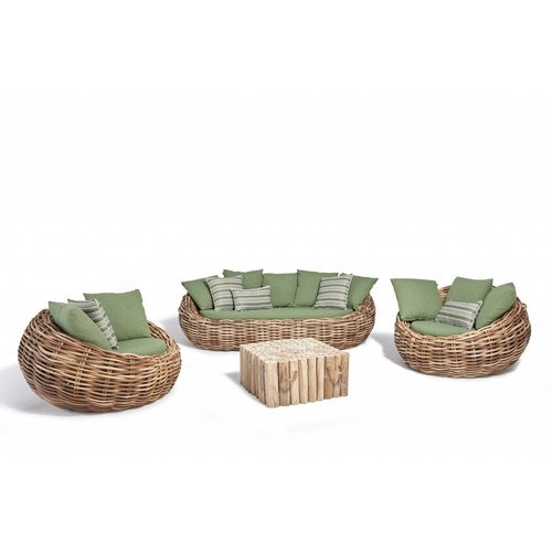 Apple Bee tuinmeubelen Cocoon Loungeset | Opstelling 2