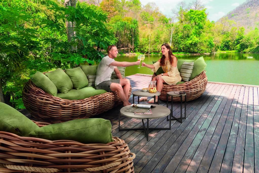 Apple Bee tuinmeubelen Cocoon Loungeset | Opstelling 1