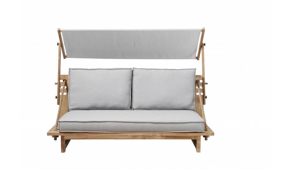 Ideale Zithoogte Loungebank.Loungebank Robinson Met Luifel Apple Bee