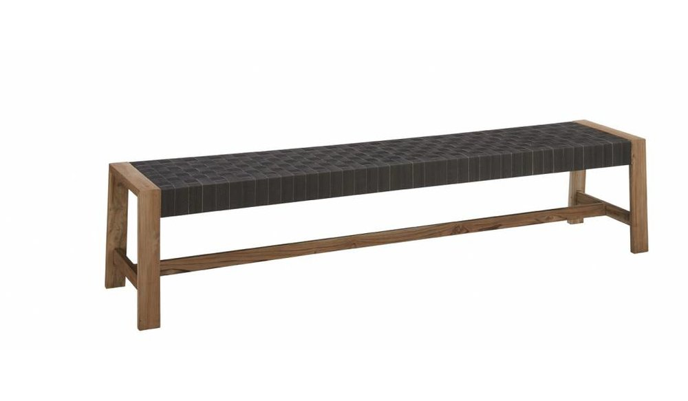 Square tuinbank | Apple Bee | 170 cm | New charcoal
