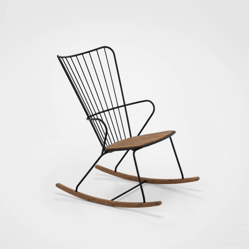 HOUE tuinmeubelen Paon schommelstoel Black