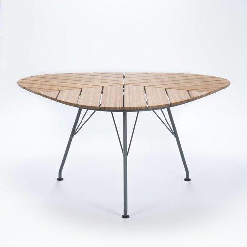 HOUE Leaf tuintafel | Aluminium grijs / bamboe