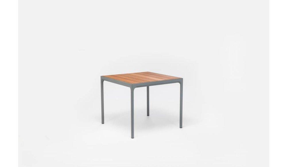 Four tuintafel 90 x 90 cm | Donkergrijs aluminium