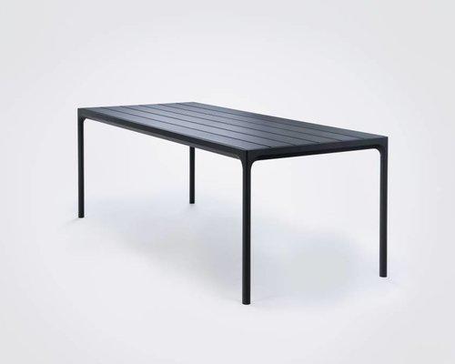 Four tuintafel 210 x 90 cm | Zwart aluminium