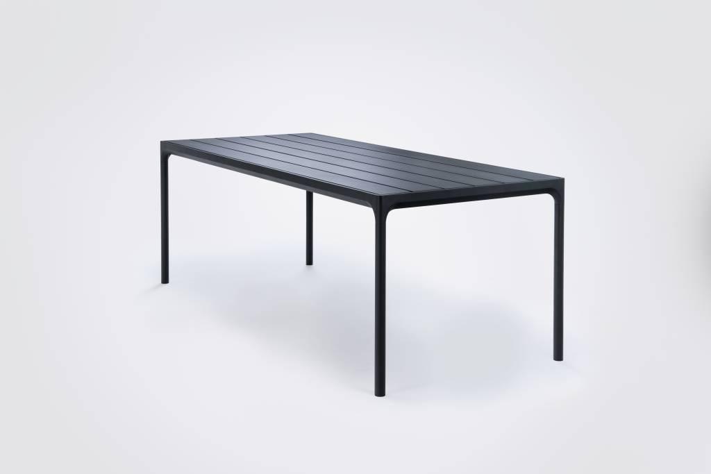 HOUE tuinmeubelen Four tuintafel 210 x 90 cm | Zwart aluminium
