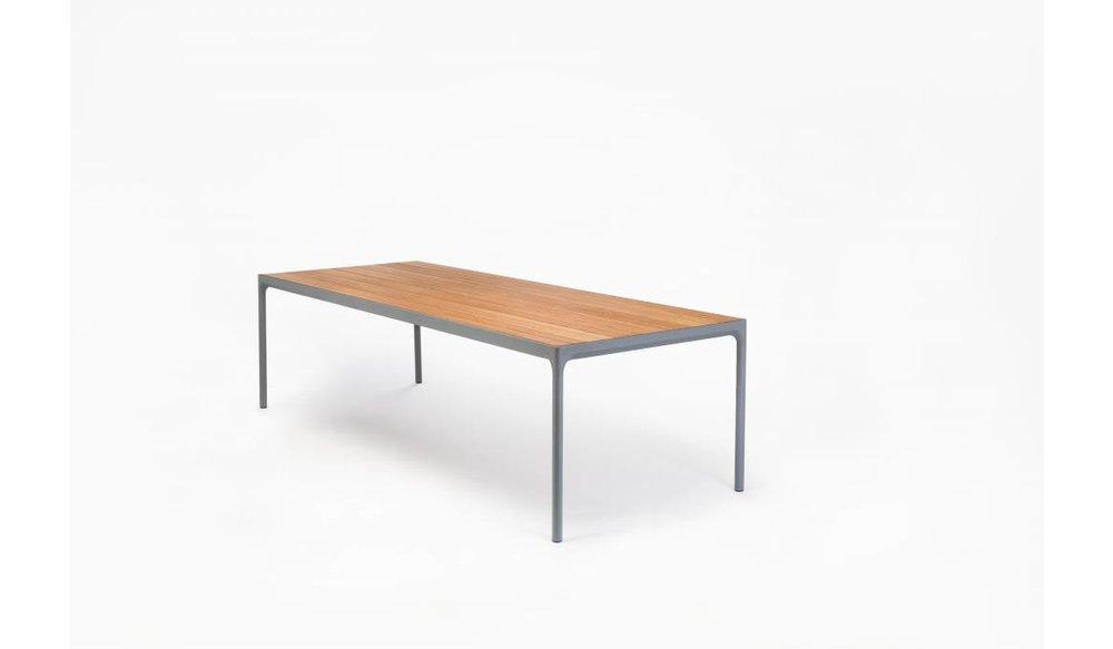 Four tuintafel 160 x 90 cm | Grijs aluminium