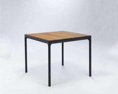 Four tuintafel 90 x 90 cm | Zwart aluminium