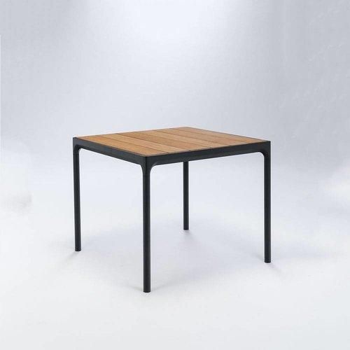 HOUE Four tuintafel 90 x 90 cm   Zwart aluminium