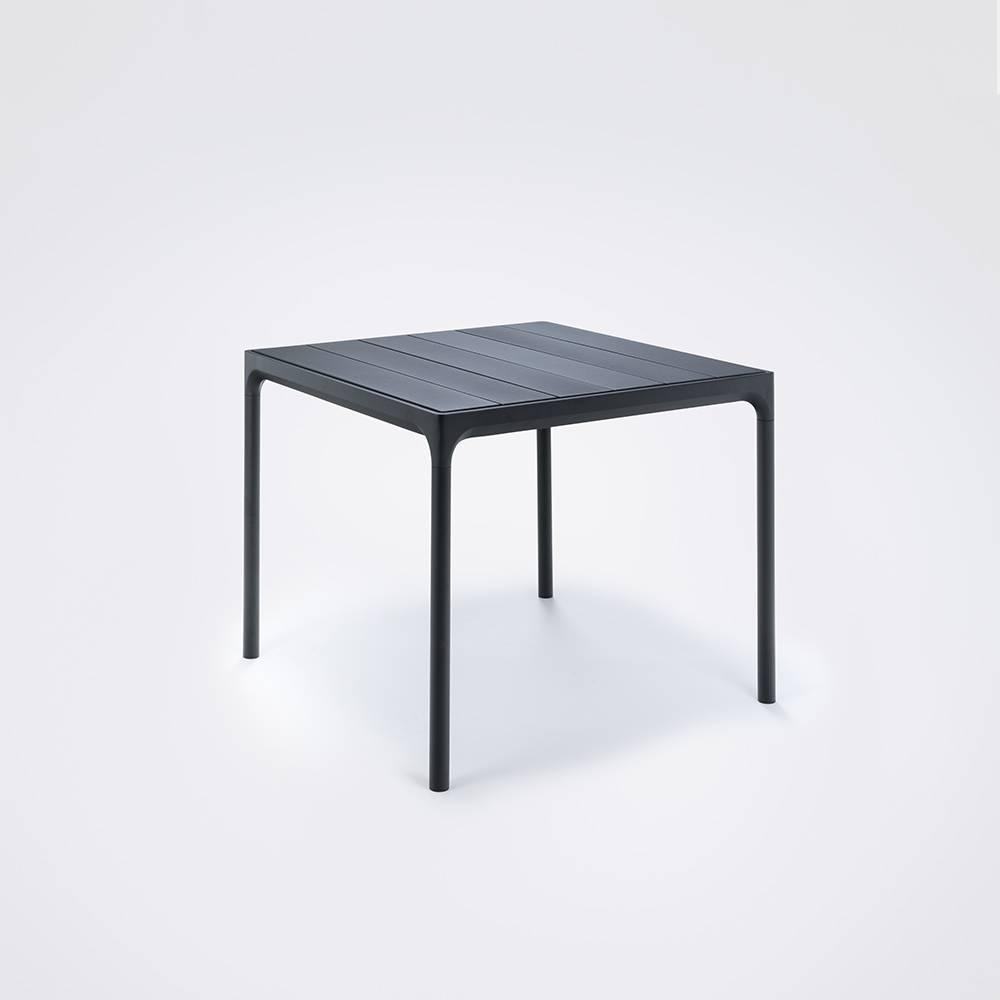 HOUE tuinmeubelen Four tuintafel 90 x 90 cm | Zwart aluminium
