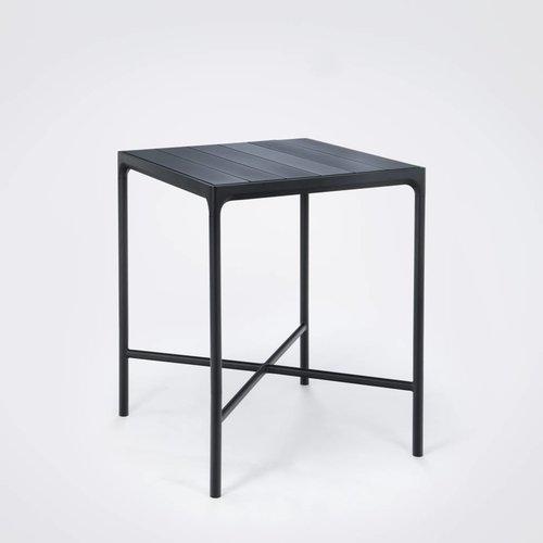 HOUE tuinmeubelen Four bartafel | 90 x 90 cm | Zwart aluminium