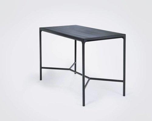 Four bartafel | 160 x 90 cm | Zwart aluminium