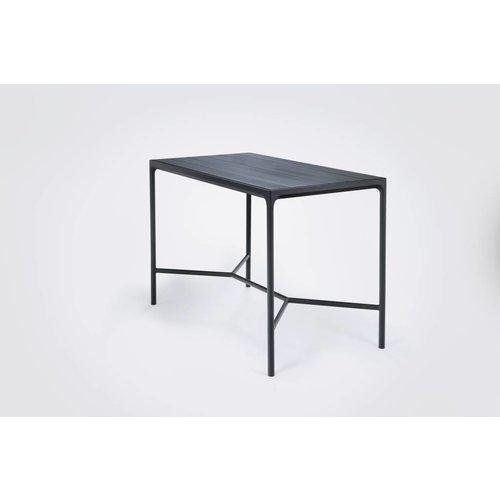 HOUE Four bartafel | 160 x 90 cm | Zwart aluminium