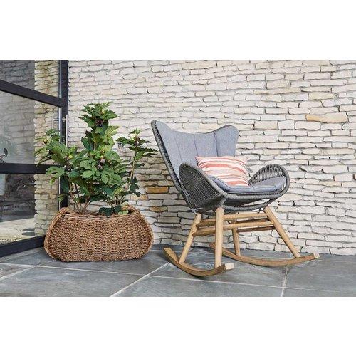 SUNS tuinmeubelen Kreta | schommelstoel | Grijs
