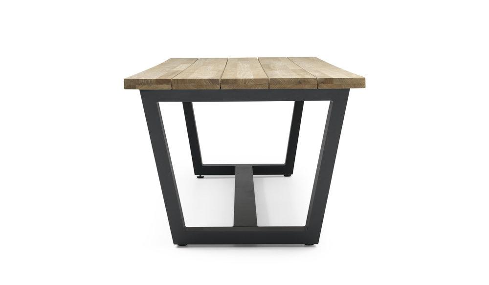 George Tafel | Teakhout & Aluminium | 280 cm