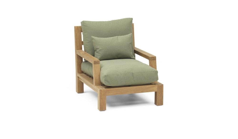 Lounge Stoel Met Kussen.Loungestoel Daylounge Top Kwaliteit Teakhout All Weather Kussens
