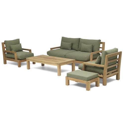 Garden Teak Daylounge loungeset | Opstelling 4