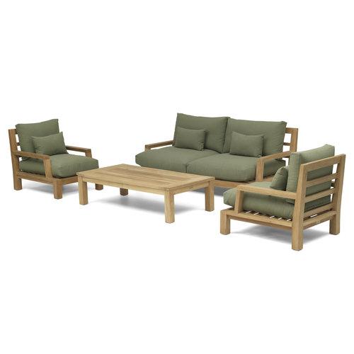 Garden Teak Daylounge loungeset | Opstelling 3