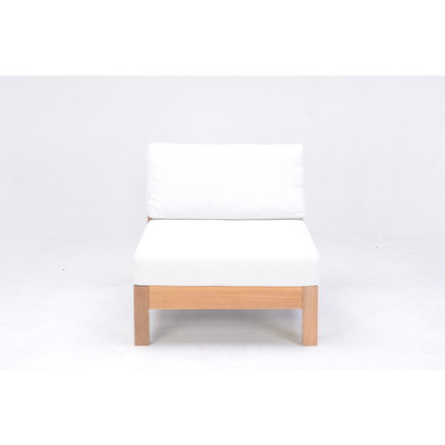 Garden Teak Coffee Bay Lounge - Single module