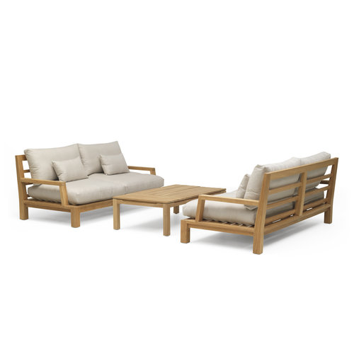 Garden Teak Daylounge loungeset | Opstelling 1