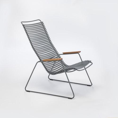 HOUE tuinmeubelen Click loungestoel | Dark Grey