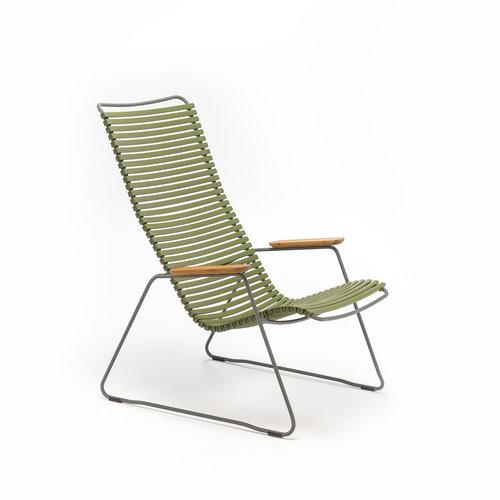 HOUE tuinmeubelen Click loungestoel | Olive Green