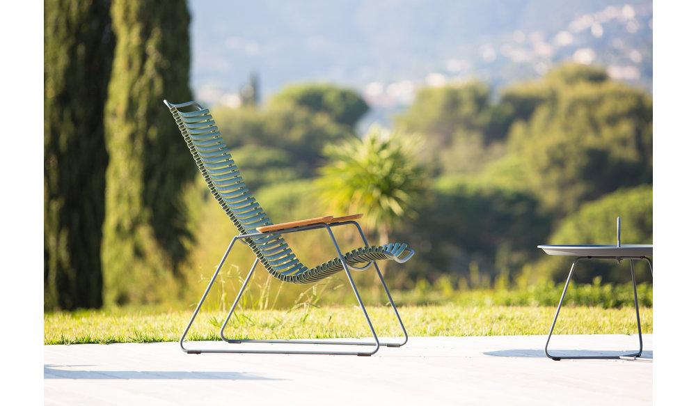 Click loungestoel | Petrol