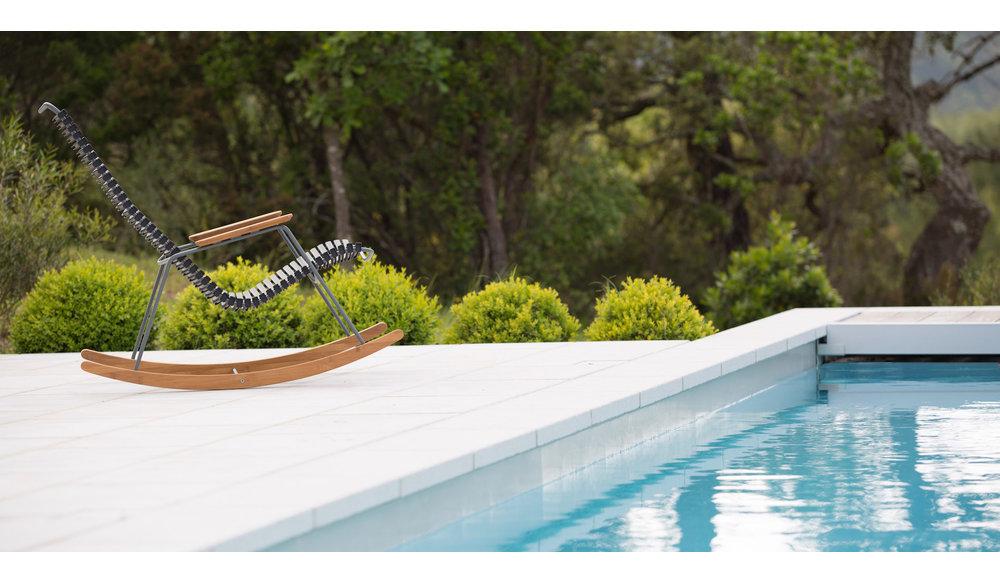Click schommelstoel | Pine Green