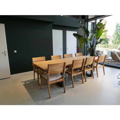 Wolfwood Tuinset | Noosa tuintafel met James stapelstoelen