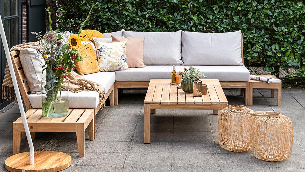 Wolfwood tuinmeubelen Porto lounge-dining set | Opstelling 1