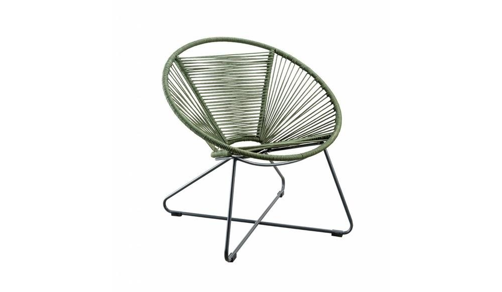 Moni Loungestoel Donker groen incl. zitkussen