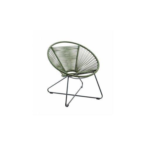 SUNS tuinmeubelen Moni Loungestoel Donker groen incl. zitkussen