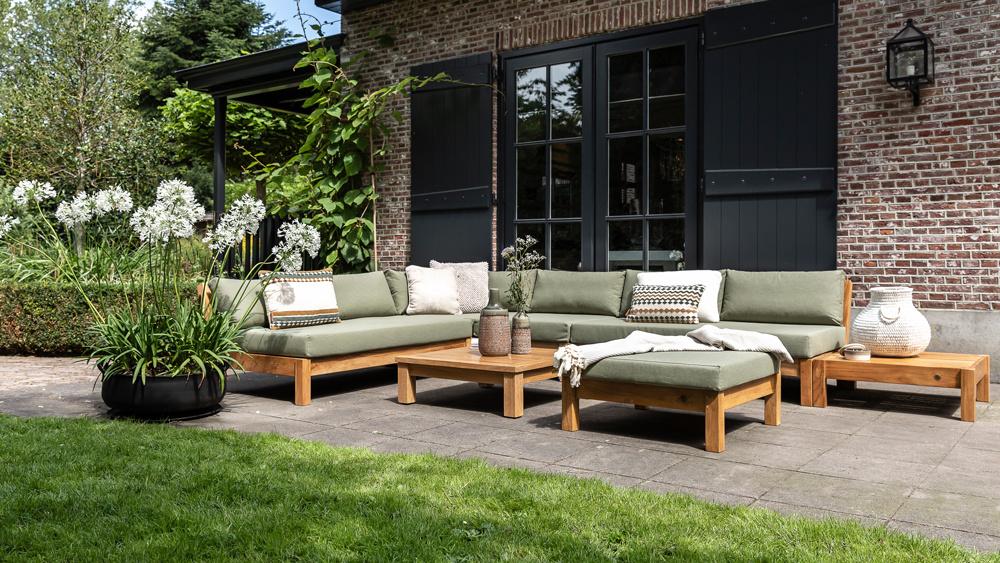 Wolfwood tuinmeubelen Coffee Bay Loungeset   Opstelling 12