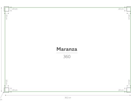 Maranza | Terrasoverkapping | Mat Royal Grey | 360x350x230
