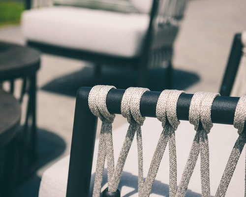 Menton loungestoel | Zwart