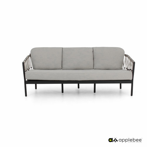 Apple Bee tuinmeubelen Menton loungebank | Zwart