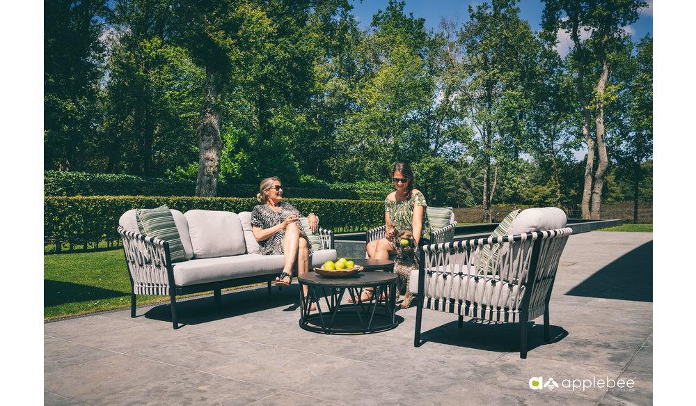 Menton loungebank | Zwart