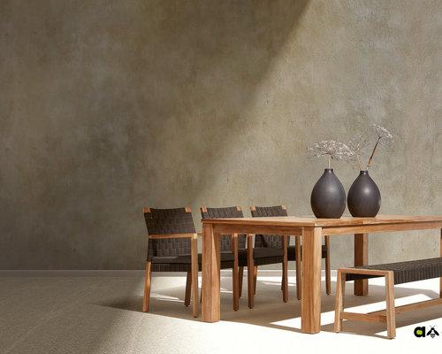 Square dining tuinstoel | Apple Bee | Teak | Stone black