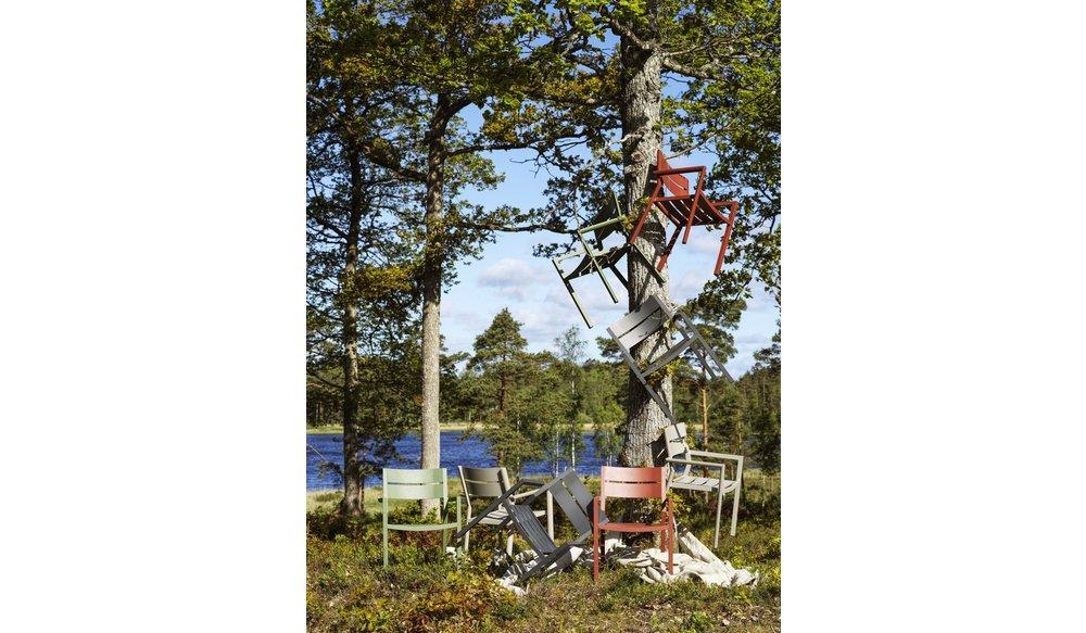 Delia tuinstoel aluminium | Brafab | Zwart