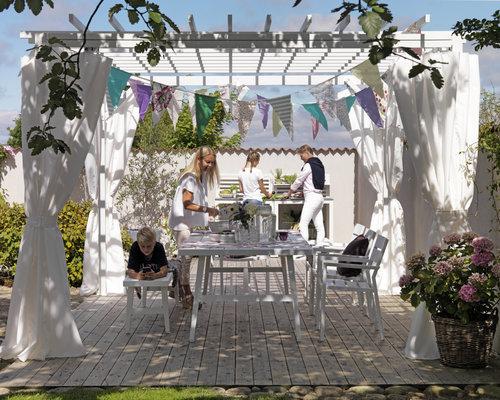 Delia tuinstoel aluminium | Brafab | Wit