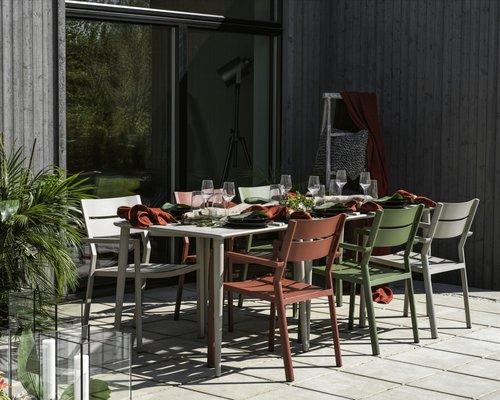 Delia tuinstoel aluminium | Brafab | Khaki