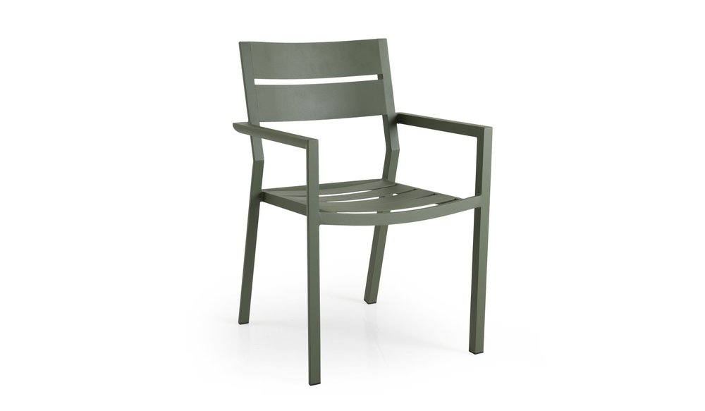Delia tuinstoel aluminium | Brafab | Groen