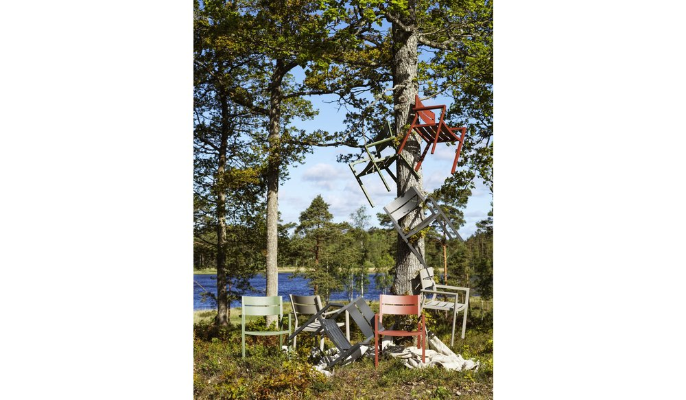 Delia tuinstoel aluminium   Brafab   Grijs