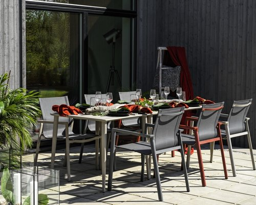 Delia tuinstoel met textileen | Brafab | Khaki