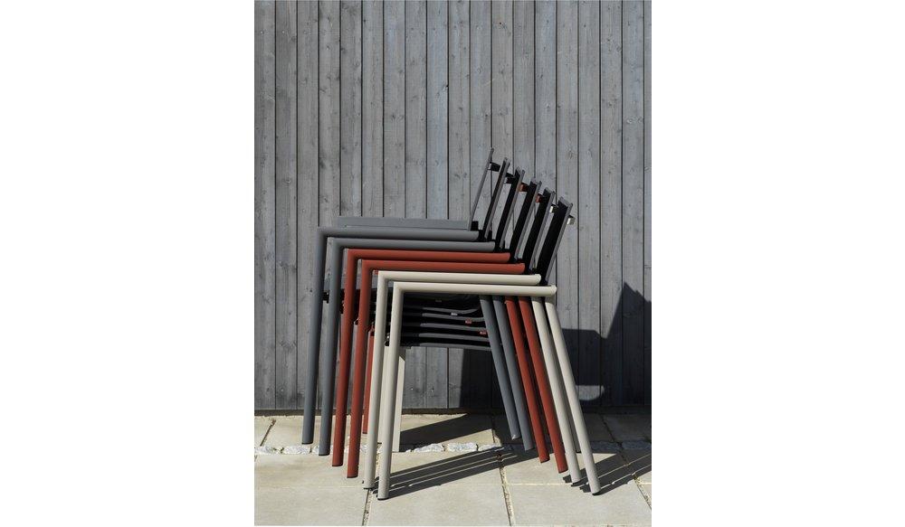 Delia tuinstoel met textileen | Brafab | Rood