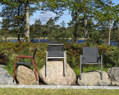 Delia tuinstoel met textileen | Brafab | Grijs