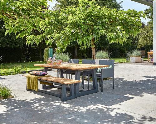 Tuintafel Ovada   Suns   220 x 100 cm   Mat royal grijs