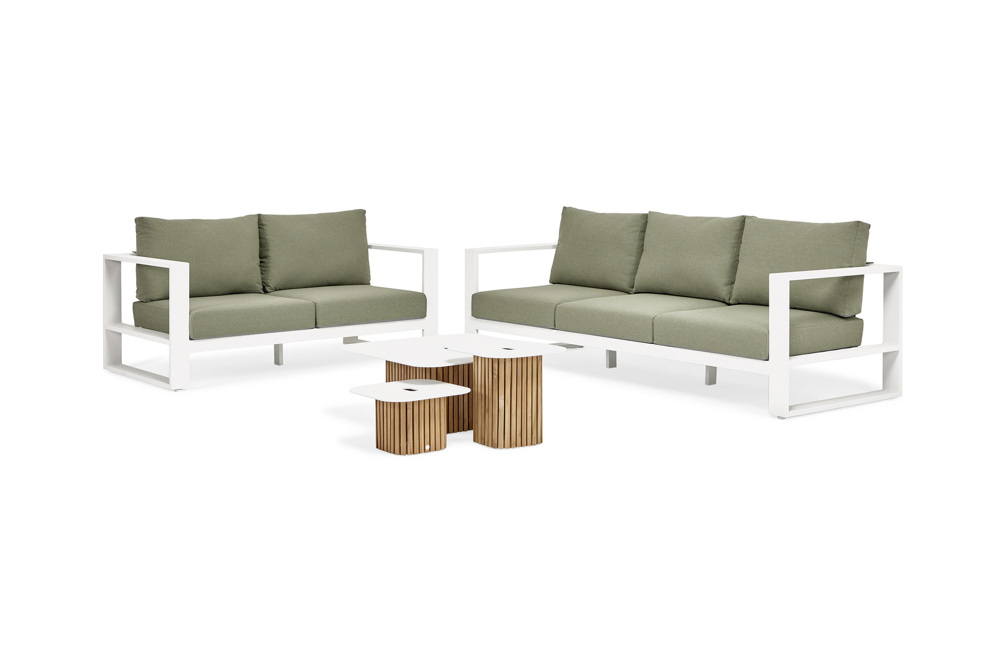 SUNS tuinmeubelen Savona Loungeset | 2- en 3 persoons loungebank incl. 2 salontafels