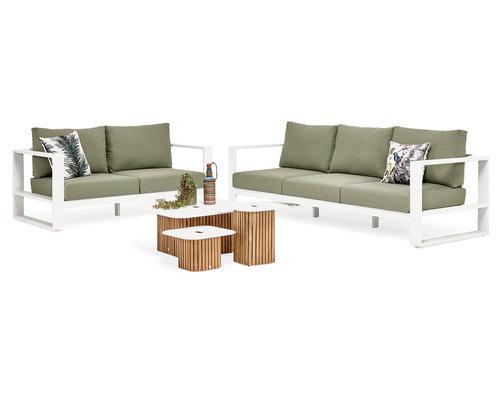 Savona Loungeset | 2 en 3 persoons loungebank incl. 2 salontafels
