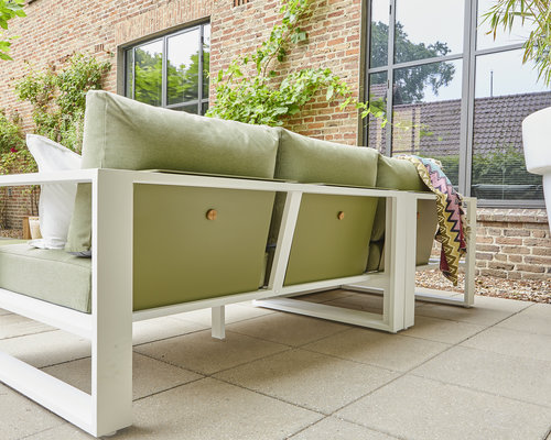 Savona Loungestoel | Mat Wit | Forest Green